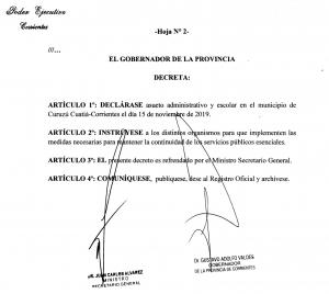 El gobernador Valdés declara asueto para Curuzú Cuatiá y Provincia inaugura el Centro Oncológico