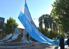 Se conmemoró el 209° aniversario del primer izamiento de la Bandera Nacional