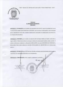 La Municipalidad da a conocer el padrón de postulantes para las viviendas del Barrio René Borderes