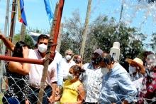 Inauguran una perforación de agua potable en Primera Sección Chacra