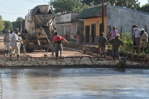 Avanza la pavimentación de calle Pueyrredón