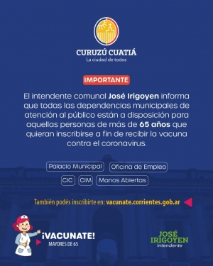Habilitan en el Municipio inscripciones para vacunarse contra el covid-19