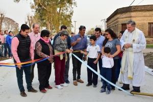 El intendente Irigoyen inauguró pavimento en una nueva cuadra que debía la gestión anterior