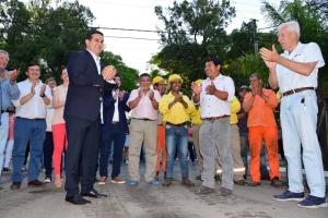Quedaron inauguradas las obras en Calle Castillo