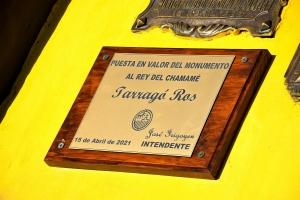 Con una serie de actos Curuzú homenajeó a Tarragó e inauguró una gigantesca mural y remodelación del monumento al Rey del Chamamé