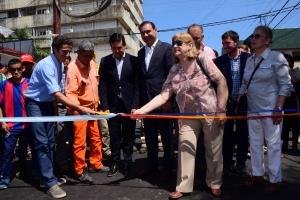 Junto a Valdés, Irigoyen inauguró la repavimentación de varias cuadras del casco céntrico de Curuzú Cuatiá