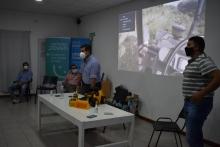 Irigoyen felicitó a los alumnos de los talleres de manejo de máquinas viales